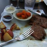 Billy's Sports Bar - Prime Rib with roasted red potatoes, pearl onions & baby carrots