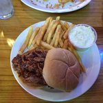 BBQ pulled pork and fries