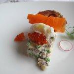 Starter at the hotel's restaurant