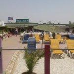 La terrasse de la plage