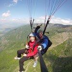 mark flying a customer