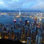 Vue du pic  vue sur la baie HK