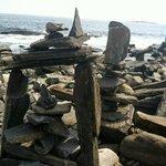 Rock towers on Peaks Island