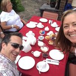 Having Tea in the garden at Ardenwood