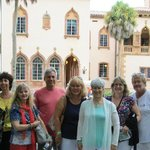 Our group in front of the Ringling's waterfront home