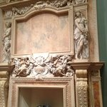 Marble fireplace at Ringling Art Museum