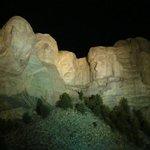 Mt. Rushmore at night