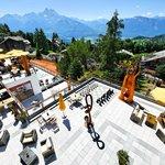 Terrasse avec vue sur les Alpes