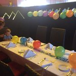 The staff decorated our table beautifully for my little brothers birthday