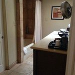 Large bathroom with lots of towels