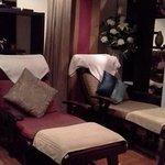 Beautiful foot massage area