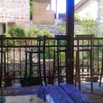 Vue depuis la terrasse du Freedom Hostel