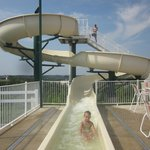 (complimentary) water slide