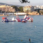 New inflatables at palma nova beach