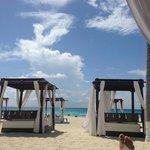 Cama na praia