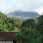 room view of the volcano arenal