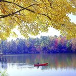 Canoeing on a crisp Fall day.