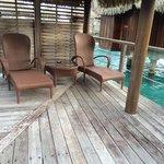 ponton privé au bungalow