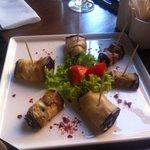 Eggplant & walnut rolls
