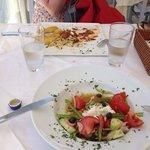 veal stuffed an greek salad