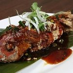 Whole Red snapper with chili brown sauce