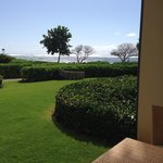 View from lanai from H102 2 bd, 3 bath Ocean Front condo