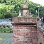 Flood levels and dates on the bridge