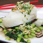 Chilean sea bass with Asian pesto