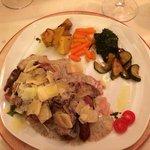 bœuf sauce champignon et parmesan