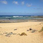 De camino a la playa de las conchas