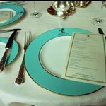 Table setting in 'The Ritz Restaurant'