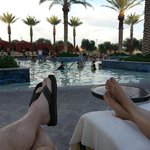relax poolside
