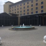 Fountain at reception