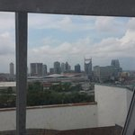View of Nashville from the top of the adventure tower.