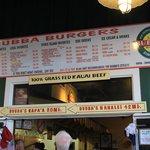 Bubba Burger menu August 2014
