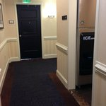 Note the ice maker in the hall RIGHT ACROSS from my room.  Gaps under another door down the hall