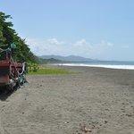 The beach facing Cauhita