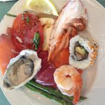 Sea food plate at hoku Sunday brunch