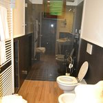 Spacious bathroom with fab shower!