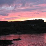 Sunset over Cnoc na Cachaille and Broadford Bay