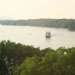 La Crosse Queen, taken from our room at the Radisson