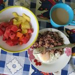 a common breakfast at our homestay