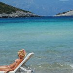 Livadaki beach 9 kilometers from the hotel, closest sandy beach