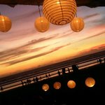 Scenery on sunset at ABC Cafe