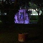 beautiful grounds at night!