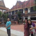 Monks at the pagoda