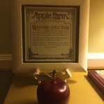 The apple is a memento to take home :)