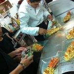 Preparing a special pasta dish