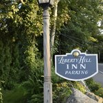 Entrance to Parking for Liberty Hill Inn