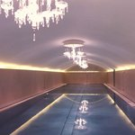 Stainless Steel Pool with Chandeliers
